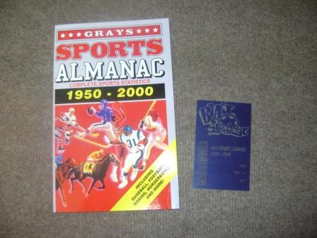 Sports almanac with receipt from back to the future 2